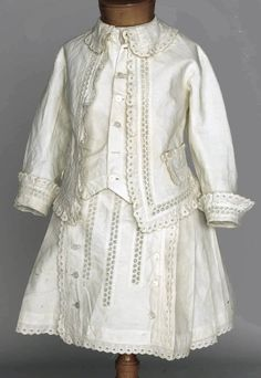 young boy's summer suit ... perfect for a stroll along the boardwalk! ... c. 1880s