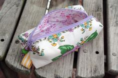 vintage hankie cosmetic bag