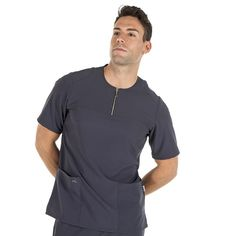 GS.6136 Aday C_139 gris marengo Medical Uniforms, Medical Scrubs, Mens Fashion, Mens Tops, Outfits, Shopping, Design, Color, Nursing Outfits