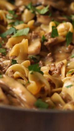 One Skillet Ground Beef Stroganoff Recipe Beef Recipes Ground Beef Recipes For Dinner Beef Dinner