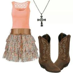 13 cute country dresses, 25 best ideas about country girl dresses on Country Girl Dresses, Country Style Outfits, Country Fashion, Country Prom, Country Life, Cowgirl Outfits, Cowgirl Boots, Gypsy Cowgirl, Cowgirl Fashion