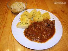 Dusená bravčová pečienka na cibuľke (fotorecept) - Recept