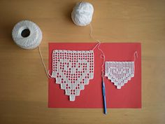 Ravelry: Another heart lace pattern by emmhouse... Free pattern!