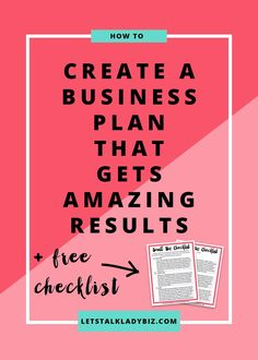 How To Write A Business Plan That Gets Amazing Results - Starting A Business - Ideas of Starting A Business - How to create a business plan that gets amazing results << Lets Talk Lady Biz Creating A Business Plan, Small Business Start Up, Starting Your Own Business, Business Branding, Business Tips, Online Business, Business Meme, Craft Business, Insurance Business