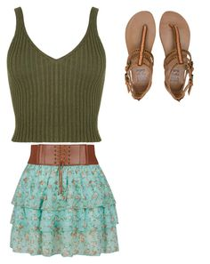 """Green"" by kymmypoo on Polyvore featuring Billabong"
