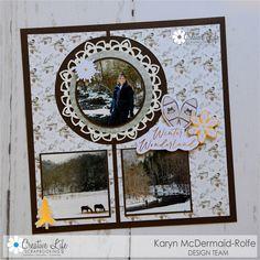 Karyn Crops | Scrapbooking Products & Inspiration / Scrapbooking Retreats & Workshops Scrapbook Designs, Scrapbooking Layouts, Snowflake Photos, Pumpkin Photos, Picture Layouts, Orange Paper, Creative Memories, Circle Pattern, Hexagon Shape
