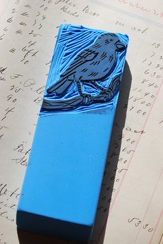 Hand Carved Eraser by JenniferConway, via Flickr
