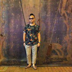 #floralprint #printtee #tee #tshirt #hm #croppedpants #uniqlo #loafer #zara