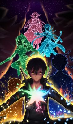 Sword Art Online Drawing, Sword Art Online Poster, Sword Art Online Wallpaper, Sword Art Online Kirito, Kirito Asuna, Online Anime, Online Art, Sao Anime, Accel World