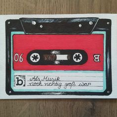 Neue Postkarte #musik #kassette #oldschool #ollischulz #illustration #iliketodraw #alsmusiknochrichtiggroßwar #selfmade #music #onepostcardaday #instaart