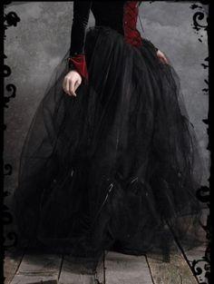 Black Tulle Ball Gown Gothic Bustle Skirt for Women - DevilInspired.co.uk