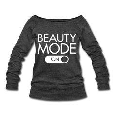 Beauty Mode Wide Open Neckline Shirt  Sweatshirt | Ocdesignzz