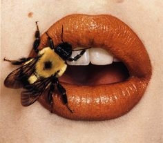 irving_penn_bee_on_lips_1995