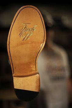The Chuck Norris Shoe - This is the one he kicks you in the face with leaving this imprinted on it. Don't mess with Chuck Norris. Chuck Norris, Me Too Shoes, Tap Shoes, Dance Shoes, Dress Shoes, Sharp Dressed Man, Well Dressed, Blackburn, Josie Loves