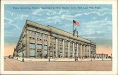 Union Interurban Station, Bamberger & Orem Electric Lines Salt Lake City Utah Salt Lake City Utah, Lake Water, Plan Your Trip, Vintage Postcards, Photos, Pictures, Adventure, History, Places