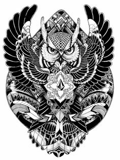 Un Filipino Tattoos, Body Art Tattoos, Temporary Tattoos, Owl, Birds, Stickers, Decals, Pyrography, Black White
