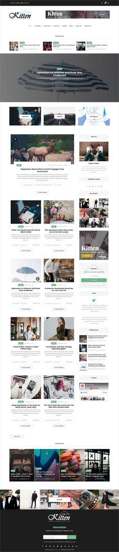 Kitten is an elegant, modern & #minimalistic design responsive #WordPress theme for #news, blog and #magazine website with multiple homepage layouts download now➩ https://themeforest.net/item/kitten-multiconcept-elegant-wordpress-blog-theme/19512967?ref=Datasata