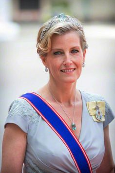 Beautiful Countess of Wessex at Swedish Royal Wedding.