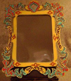 Hand Painted Wall or Table top Mirror for Home Decor. $20.00, via Etsy.