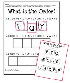 1000 Images About Alphabet ABC Order On Pinterest