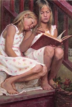 If the one with the book had dark hair this is so Koralynn and Bailey back before life spiraled on them.