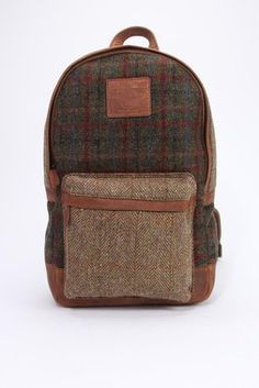 Harris Tweed Mixed Rucksack - The British Belt Company - Bags : Thrillist