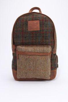 Harris Tweed Mixed Rucksack - The British Belt Company - Bags : Thrillist