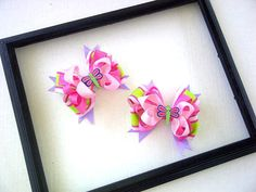DragonFly PiggyTail HairBow Set by KandyShoppe on Etsy, $15.00