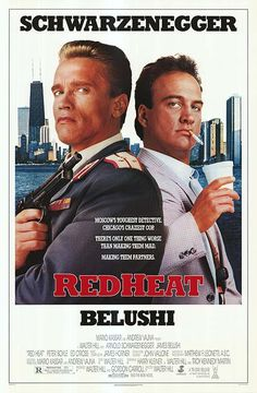 """1988, the movie """"Red Heat"""" debuted in theaters. """"Red Heat"""" is an American buddy cop action film directed by Walter Hill. The film stars Arnold Schwarzenegger, as Moscow narc Ivan Danko, and James Belushi, as Chicago detective Art Ridzik. Finding themselves on the same case, Danko and Ridzik work as partners to catch a cunning and deadly Soviet Georgian drug kingpin, Viktor Rostavili (Ed O'Ross), who also happens to be the killer of Danko's previous partner back in Soviet Russia."""