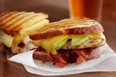 Chicken, Cheese, and Bacon Sandwiches or Panini: Chicken, Cheese, and Bacon Sandwich