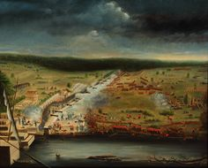 1815 painting of the Battle of New Orleans, January by participant Jean Hyacinthe de Laclotte of the Louisiana Militia based on his memories and sketches made at the site. British History, American History, American Presidents, Battle Of New Orleans, New Orleans Museums, Andrew Jackson, War Of 1812, American Revolutionary War, Historian