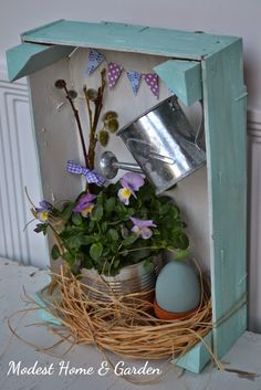 Modest Home & Garden: Húsvéti ajtódísz / Easter door ornament