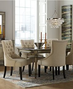 Prosecco Dining Set with Marais Chairs - Dining Room Collections - Furniture - Macy's