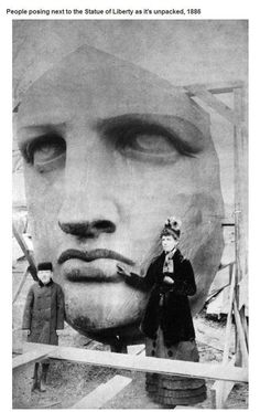 Statue of Liberty 1886.  Interesting historical photos {Part 16}