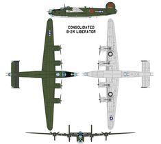 Consolidated B-24 Liberator by bagera3005.deviantart.com on @deviantART