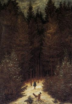 The Chasseur in the Forest - 1814 -Caspar David Friedrich - Romanticism