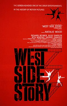 West Side Story (1961) is an energetic, widely-acclaimed, melodramatic musical - a modern-day, loose re-telling of Shakespeare's Romeo and Juliet tragedy of feuding families, although the setting is the Upper West Side of New York City in the late 1950s with conflict between rival street gangs rather than families.