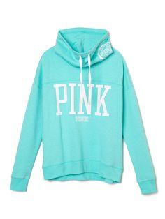 High-Neck Pullover in UFO Glow $49.95- PINK - Victoria's Secret