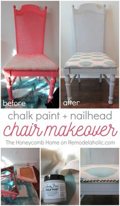 DIY cane chair makeo