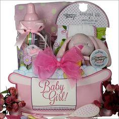 Baby Essentials: Baby Girl Gift Basket