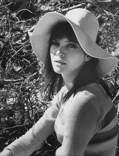 Actress Anna Karina while on he set of film The Magus