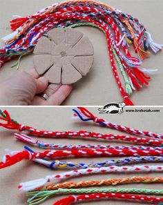 Pulseira feita com a técnica Kumihimo - tutorial Diy Craft Projects, Craft Tutorials, Friendship Bracelet Patterns, Friendship Bracelets, Braided Bracelets, Crafts To Make, Arts And Crafts, Yarn Crafts, Diy For Kids