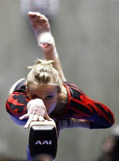 Daria Bijak on balance beam, women's gymnastics, gymnast, WAG, cool sports photography photo.... Senior picture?