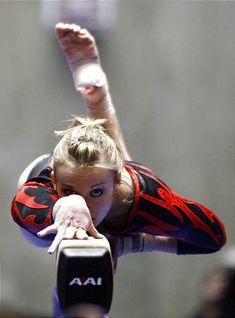Daria Bijak on balance beam, women's gymnastics, gymnast, WAG, cool sports photography photo.... Senior picture?