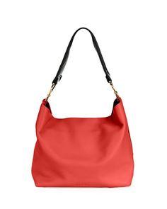 MARNI Twist Small Hobo Bag W/Guitar Strap, Red. #marni #bags #shoulder bags #leather #hobo