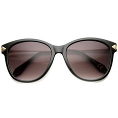 Women's Designer Cat Eye Sunglasses With Metal Temples 9836