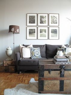 i really want a gray couch. love the frames above, too.  Me to.bb
