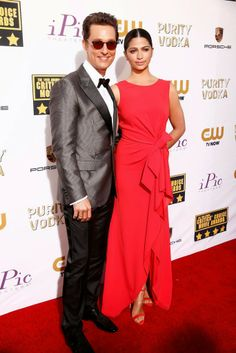 Celeb Diary: Matthew McConaughey & Camila Alves @ 2014 Critics' Choice Movie Awards