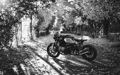 Scarica sfondi bmw, moto, in bianco e nero
