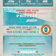This project highlights benefits of eating sustainable wild-caught American shrimp, it really is a super food! Glycemic Index, Live Long, For Your Health, Superfoods, Health Benefits, Infographics, Shrimp, Seafood, Highlights